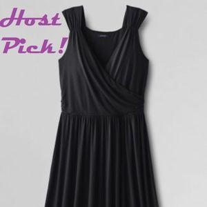 Wrap-Front Sleeveless Knit Dress